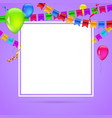 celebrate colorful background with flying colorful vector image vector image