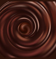 chocolate swirl wave flow abstract background vector image vector image