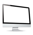 computer display side isolated on white background vector image vector image