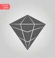 diamond icon simple flat symbol perfect vector image vector image
