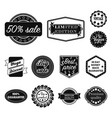 different label black icons in set collection for vector image
