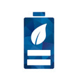 eco battery icon vector image vector image