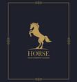 emblem horse vector image vector image