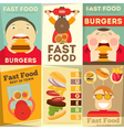 fast food posters vector image vector image