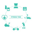 fitness concep with sport icons fitness concep vector image