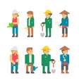 flat design farmers set vector image