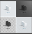 four cuboids layouts color vector image vector image