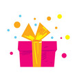 gift box isolated icon vector image vector image