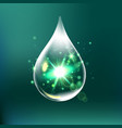 glitter water drop water drop with effects vector image vector image