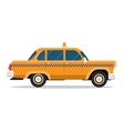graphic yellow retro Taxi cab on white vector image vector image