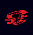 grunge textured albanian flag vector image