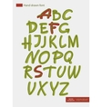 Hand-drawn alphabet vector image