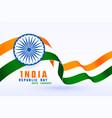 happy republic day india 3d flag design vector image vector image
