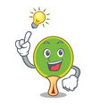 have an idea ping pong racket mascot cartoon vector image