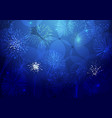 holiday bg blue fireworks vector image