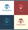 house camera logo and icon vector image vector image