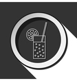 icon - glass carbonated drink straw and citrus vector image vector image