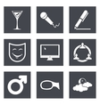 Icons for Web Design set 21 vector image vector image