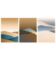 japanese background with line wave pattern vector image vector image