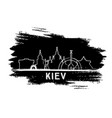 kiev skyline silhouette hand drawn sketch vector image vector image