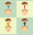 leadership concept with open heads vector image vector image