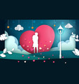 man and woman cartoon cartoon love vector image vector image