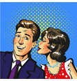 man and woman whisper pop art vector image vector image