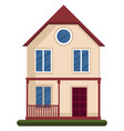 modern a house with one floore on white vector image vector image