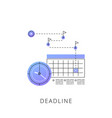 neon deadline line icon vector image