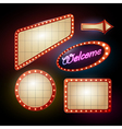 Neon sign set of retro frames vector image