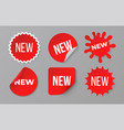 new sticker set sale product red badge label vector image vector image