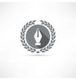 nib icon vector image
