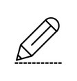 pencil drawing architecture icon line style vector image vector image