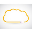 Pencil in the form of clouds for presentations or vector image