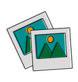 photographs icon imag vector image