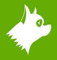pinscher dog icon green vector image vector image