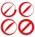prohibition restriction sign red no entry do not vector image