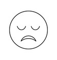 sad face outline icon isolated lined vector image vector image