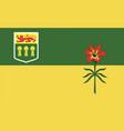 saskatchewan flag vector image vector image