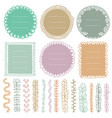 set doodle frames vignettes and dividers vector image vector image
