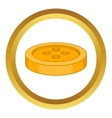 Sewing button icon vector image vector image