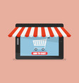 shopping online tablet vector image vector image