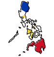 simplified map of philippines outline with