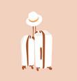 travel bag boho line vector image
