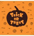 trick or treat halloween background vector image vector image
