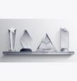 trophies shelf concept vector image vector image
