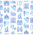 tuberculosis seamless pattern with thin line icons vector image