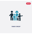 two color family group icon from people concept vector image