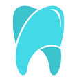 upper tooth logo icon flat style vector image vector image