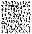 Various Silhouette Sports Activities vector image vector image